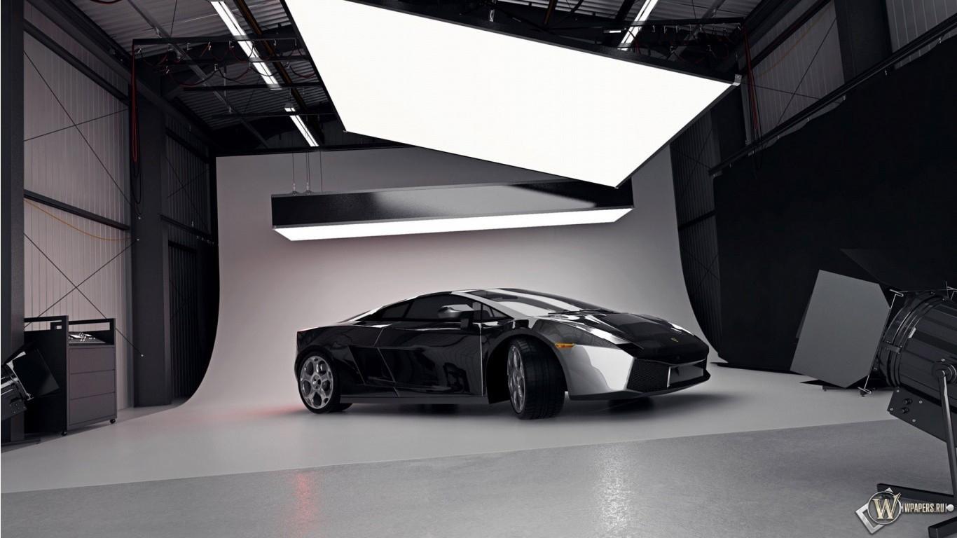 3D Lamborghini 1366x768