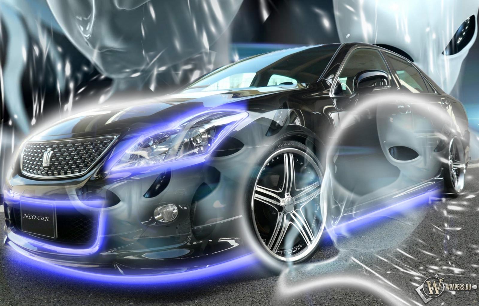 Неоновый Авто 1600x1024