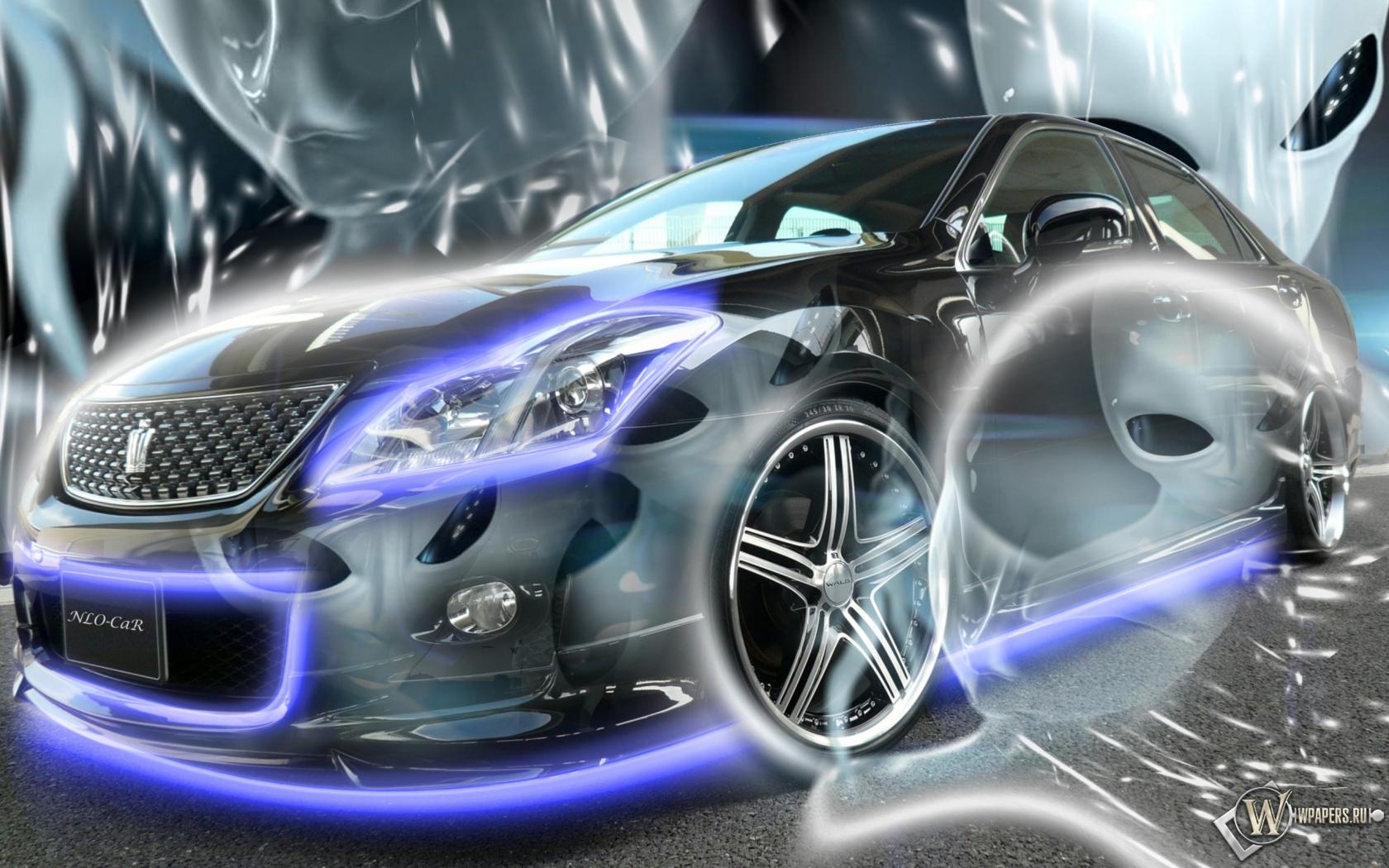Неоновый Авто 1680x1050