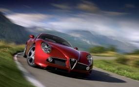 Обои Alfa Romeo 8C: Alfa Romeo 8C Sport Car, Alfa Romeo