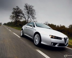 Обои Alfa Romeo: Деревья, Альфа Ромео, Alfa Romeo, Трасса, Alfa Romeo
