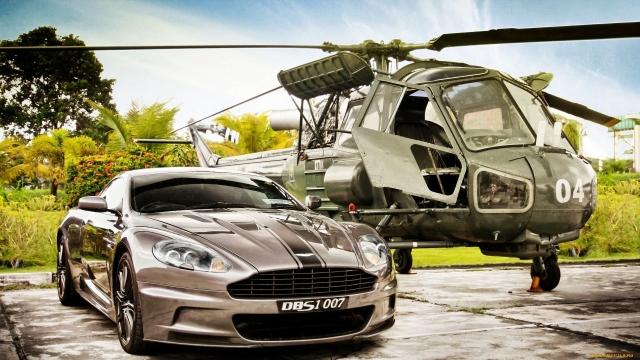 Aston Martin DBS & Westland Scout