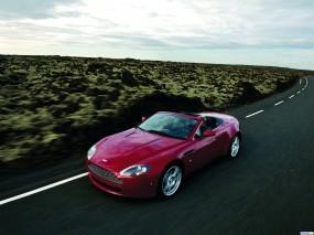 Обои Красный Aston Martin: Астон Мартин, Кабриолет, Aston Martin