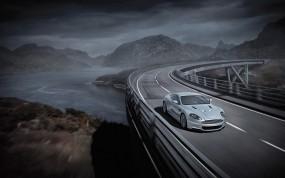 Обои Aston Martin: Астон Мартин, Река, Мост, Aston Martin DB9, Aston Martin
