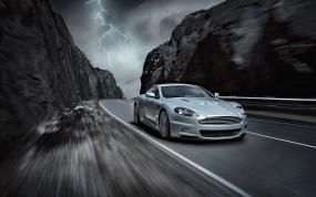 Обои Aston Martin DBS: Астон Мартин, Горы, Ущелье, Aston Martin DBS, Aston Martin