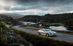 Обои Aston Martin: Астон Мартин, Шоссе, Aston Martin DB9, Aston Martin