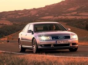 Обои Audi A8: Фары, Водила, Путь, Audi A8, Audi