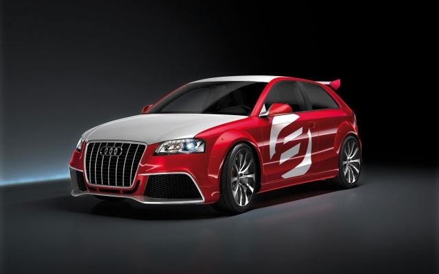 Audi A3 red