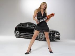 Обои Audi Girl: Ауди, Амортизатор, Audi S3, Авто с девушками, Audi