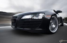 Обои Черная Audi R8: Ауди, Audi R8, Чёрная тачка, Audi