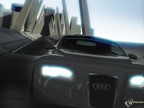 Обои Audi R Zero Concept Tunnel: Скорость, Город, Audi R Zero, Мост, Audi