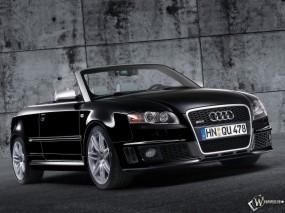 Обои Audi RS4 Front Right Open: Ауди, Кабриолет, Стена, Audi RS4, Audi