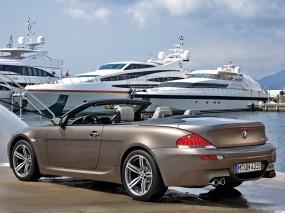 Обои BMW M6: Кабриолет, Яхта, BMW M6, BMW