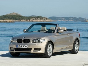 Обои BMW 1 - Series Convertible (2008): Кабриолет, Берег, BMW 1, BMW
