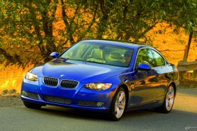 Обои BMW - 3 Series Coupe (2007): Природа, Синяя бэха, BMW Series Touring, BMW 3, BMW