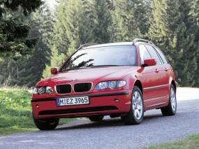 Обои BMW - 3 Series Touring (2002): BMW, Красная бэха, BMW Series Touring, BMW 3, BMW