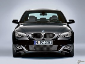 Обои BMW - 5 (2004): BMW 5, Чёрное авто, BMW