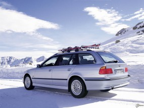 Обои BMW - 5 Series Touring (1997): Зима, BMW 5, BMW Series Touring, BMW