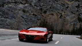 Обои BMW - M1 Homage: БМВ, Горы, Шоссе, BMW M1, BMW