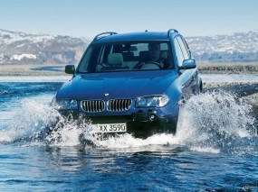 Обои BMW - X3 (2004): Внедорожник, Вода, BMW X3, BMW