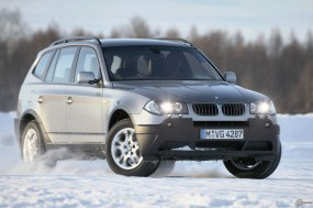 Обои BMW X3 (2004): Внедорожник, Зима, BMW X3, BMW