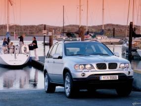 Обои BMW - X5 (2000): Внедорожник, Берег, BMW X5, BMW