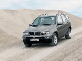 Обои BMW X5 (2004): Внедорожник, Песок, BMW X5, BMW