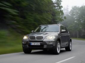 Обои BMW X5 (2007): Внедорожник, Скорость, Природа, BMW X5, BMW