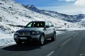 Обои BMW X5 (2007): Внедорожник, Снег, BMW X5, BMW