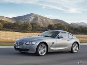 Обои BMW Z4 Coupe (2006): Горы, Серебристый, BMW Z4, BMW