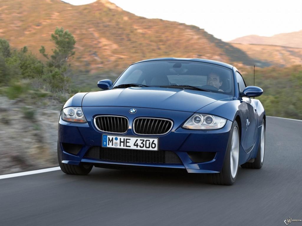 Скачать обои Bmw Z4 M Coupe 2006 Скорость Синий Bmw