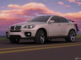 Обои BMW X6: BMW X6, Белое авто, BMW