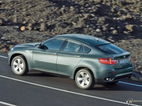 Обои BMW X6: Скорость, Камни, BMW X6, BMW