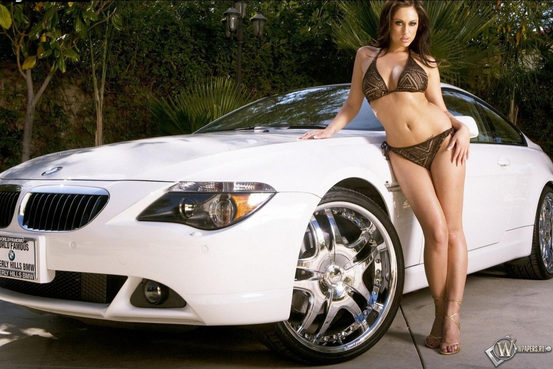 Jessica Jayme и BMW M6 1500x1000