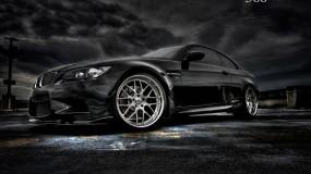 Обои BMW M3: Тучи, Асфальт, Чёрный, BMW M3, BMW