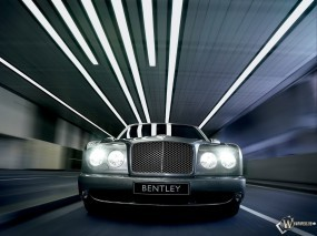 Обои Bentley Arnage Front: Авто, Бэнтли, Bentley, Bentley Arnage, Тоннель, Шоссе, Bentley