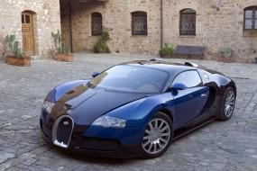Bugatti Veyron blue car
