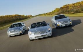 Обои Cadillac V-Series XLR-V - STS-V and CTS-V STS-V: Кадиллак, Дорога, Cadillac XLR-V, Cadillac STS-V, Лес, Cadillac CTS-V, Cadillac