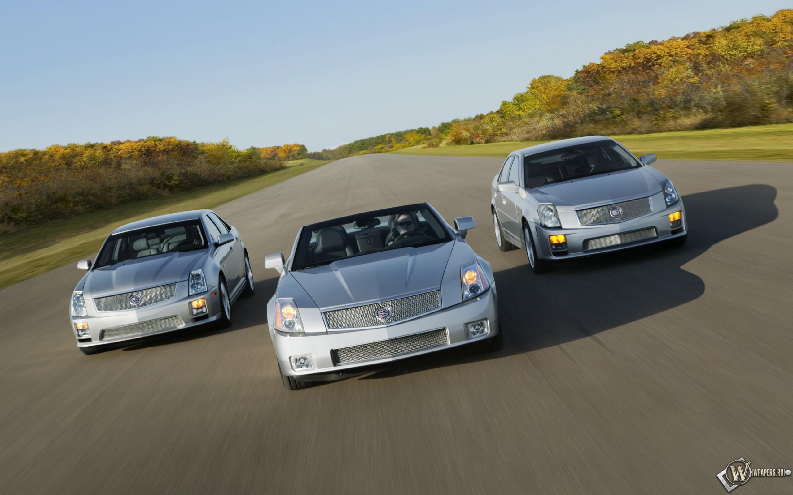 Скачать обои Cadillac V Series XLR V STS V and CTS V STS