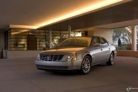 Обои Cadillac DTS: Кадиллак, Авто, Cadillac, Cadillac DTS, Кадиллак ДТС, Здание, Парковка, Cadillac