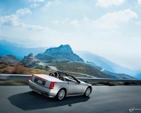 Обои Cadillac XLR: Кадиллак, Горы, Кабриолет, Дорога, Auto, Cadillac XLR, Cadillac
