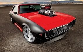 Обои 1968 cherry bomb camaro: Асфальт, Сила, Chevrolet Camaro, Тюнинг, Мощь, Muscle Car, Chevrolet