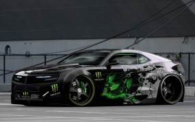 Обои Chevrolet Camaro Monster Energy: Chevrolet Camaro, Тюнинг, Muscle Car, Chevrolet
