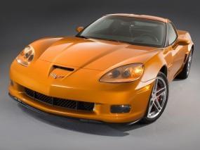 Обои Corvette ZO6: Фары, Корвет, Оранж, Chevrolet Corvette, Chevrolet