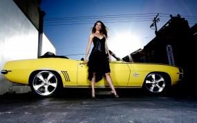 Обои Шевроле: Кабриолет, Девушка, Chevrolet Camaro, Chevrolet