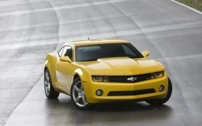Обои Chevrolet camaro: Желтый, Chevrolet Camaro, Chevrolet