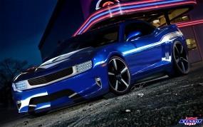 Обои COMARO SS TUNING: Асфальт, Синий, Chevrolet Camaro, Тюнинг, Chevrolet