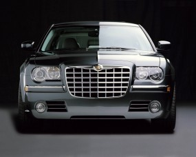 Обои Chrysler 300C Black: Chrysler 300C, Chrysler