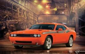Оранжевый Dodge Challenger RT