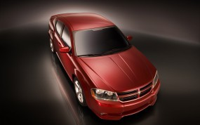 Обои Dodge Avenger: Красный, Dodge Avenger, Dodge